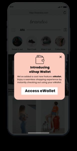 eShop wallet
