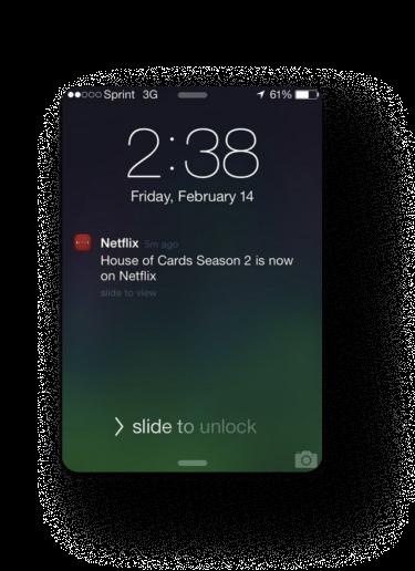 The screenshot that shows a push notification of Netflix