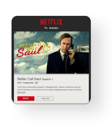 A recommendation email of Netflix