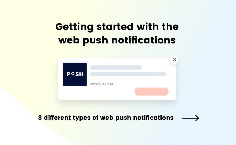 Infographic explaining web push notification strategies