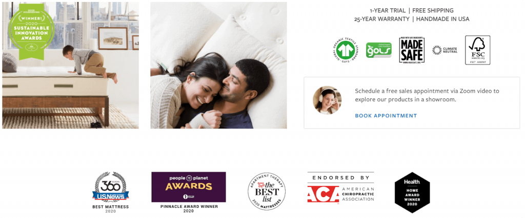 trust badges on website